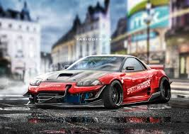 dodge stealth 2016 yasiddesign render artwork car tuning mitsubishi 3000gt