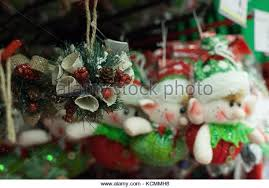 Christmas Decorations For A Shop by Christmas Decorations Hanging In Shop Stock Photos U0026 Christmas