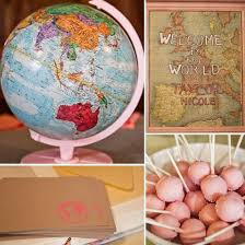 welcome to the world baby shower a vintage map baby shower popsugar