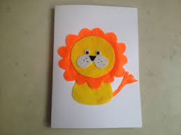 birthday cards for kids lion birthday card my kid craft