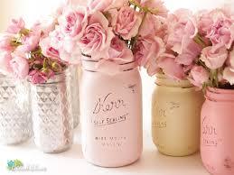 pink painted mason jars