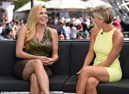 new haircut charissa thompson candis cayne in leopard print skirt as she talks caitlyn jenner