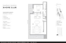Floor Plan Beach House by Fasano Shore Club U2013 Floorplan U2013 Beach House 3 Fasano Hotel