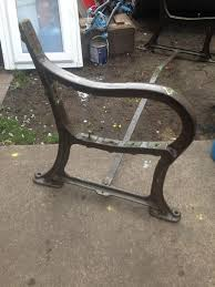 ex council cast iron bench ends bolt down very heavy in