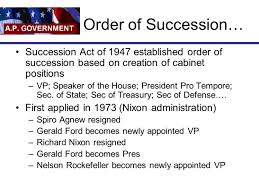 The Presidential Cabinet Presidential Cabinet Positions In Order Of Succession