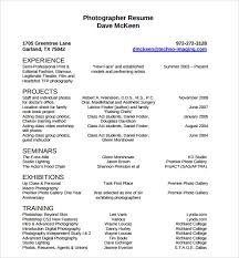 Headshot And Resume Sample by Sample Photographer Resume Template 19 Download In Pdf Psd Word