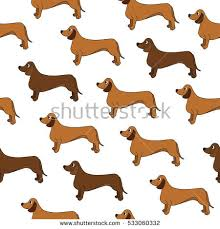dachshund wrapping paper awesome seamless pattern dogs stock vector 533060332