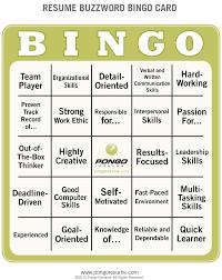buzzwords for resume resume buzzword bingo pongo
