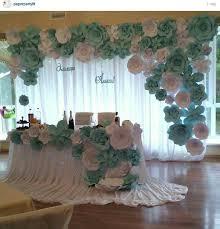 wedding backdrop paper flowers backdrop flower wedding