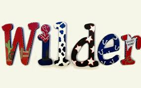 hand painted decorative hanging wood wall letters