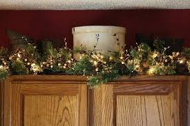 Decorating Above Kitchen Cabinets Pictures by Decorating Above Kitchen Cabinets Christmas Winter