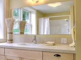 Beveled Mirror Bathroom Exclusive Design Frameless Beveled Bathroom Mirror Modest Ideas