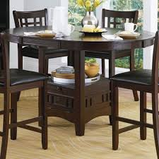 counter height table with storage homelegance junipero extension counter height table w storage base