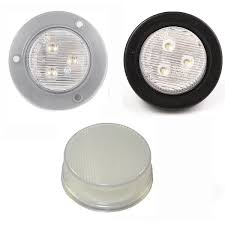 2 led trailer lights 2 inch round piranha led 3 diodes truck trailer reverse backup