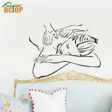 popular massage wall buy cheap lots from china spa beautiful girl woman wall art sticker beauty salon massage vinyl decals for room decor