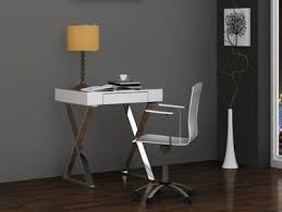 Stainless Steel Office Desk Compact 27 Modern White Lacquer Stainless Steel Office