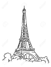 eiffel tower in paris france sketch vector illustration royalty