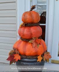 Paper Mache Pumpkin Diy Outdoor Real Looking Pumpkins The Stonybrook House