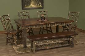 log dining room table hickory log dining table with molesworth trim
