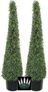 four 4 foot artificial cypress cone tower topiary trees check