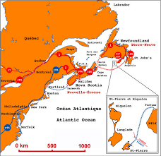 map of st and miquelon and miquelon regional map and miquelon