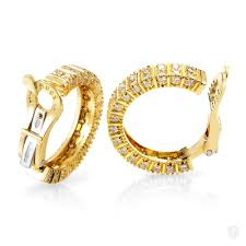 gold diamond hoop earrings jewelry boucheron boucheron women s 18k yellow gold diamond hoop