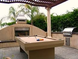 An Outdoor Pool Table Keeps The Fun Outside - Kitchen pool table