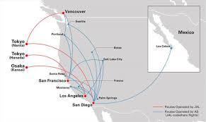 alaska air map jal is alaska airlines partner the wanderer