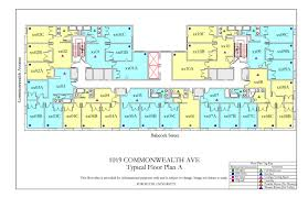 Map Room Boston by 1019 Commonwealth Ave Floor Plan Housing Boston University