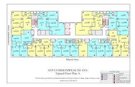 Powder Room Floor Plans by 1019 Commonwealth Ave Floor Plan Housing Boston University