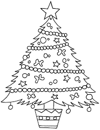 christmas tree coloring pages presents