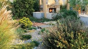 Garden Decor With Stones Landscaping Ideas With Stone Sunset