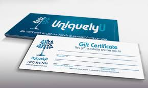 gift card business uniquely u business cards gift certificates design ninjaz