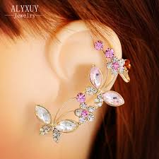 insect butterfly ear cuff clip earring top