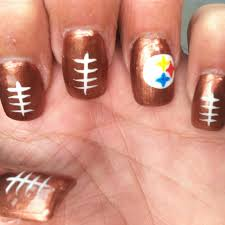 the 24 best images about steelers nail designs on pinterest