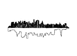 art prints new york skyline doubled up at minted com