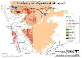 africa map kalahari project e1 atlas of namibia