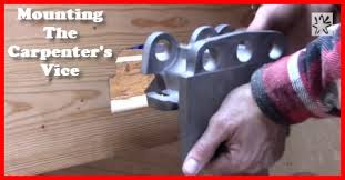 poor man u0027s workbench 16 installing a woodworking bench vise
