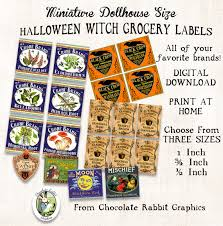 halloween jar labels miniature dollhouse halloween potion labels vintage style