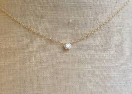 gold with diamond necklace images 14kt yellow gold diamond bezel diamond bezel necklace jpg