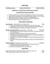 general labor resume objective statements laborer resume sles objectiveal sle images labor sles exles