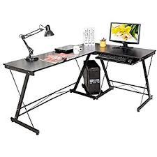 Wooden Corner Desk Top Have Slide Out Drawer For Keyboard by Hlc 161 120 73cm Computer Table Desk L Shape Corner Office Sturdy