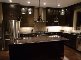Black Cabinet Kitchen Kitchen Colors With Dark Wood Cabinets Outofhome