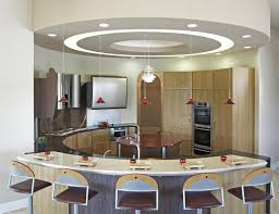 kitchen dark brown side chair microwave oven round ceiling lamp