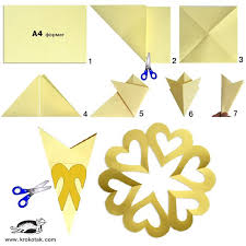 How To Make A Snowflakes Out Of Paper - 25 unique cut out snowflakes ideas on diy snowflake