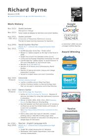 Examples Of Resume For Teachers by Lecturer Resume Samples Visualcv Resume Samples Database