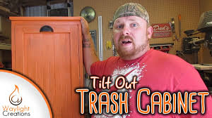 kitchen garbage cabinet make a tilt out trash cabinet youtube
