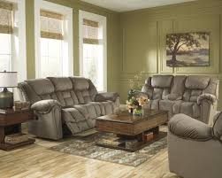 Reclining Living Room Furniture Sets Buy Brasher Mocha Reclining Sofa By Benchcraft From Www