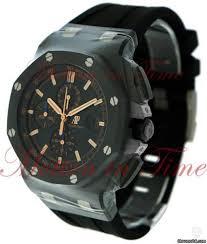 audemars piguet royal oak offshore chronograph black dial black