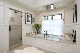 White Bathroom Decorating Ideas Bathroom Cheerful Cornered Arc Bathtub With White Net Seat For